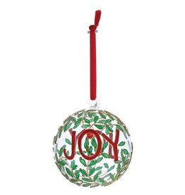 enesco Joy Hanging Glass Bauble Ornament
