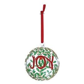 Jim Shore Joy Hanging Glass Bauble Ornament