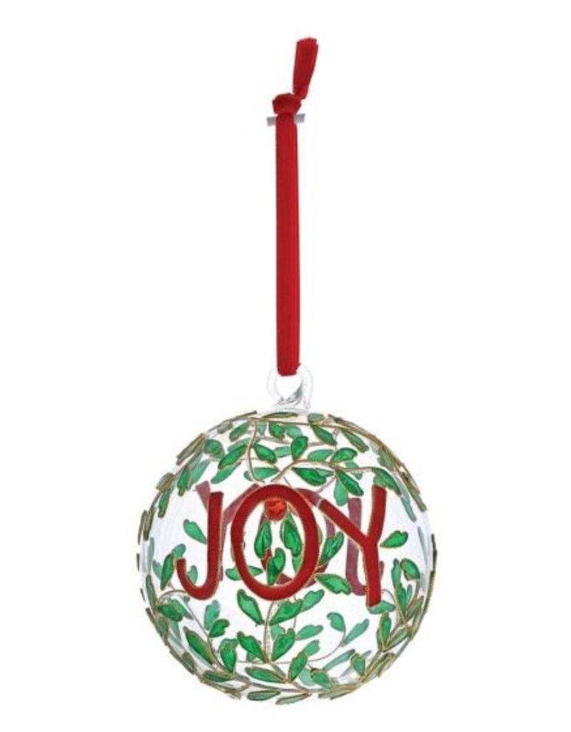 enesco Joy Hanging Glass Bauble Ornament