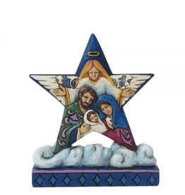enesco Star With Holy Family Nativity Scene