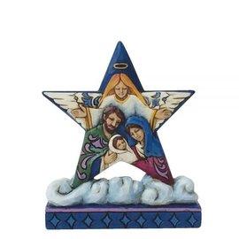 Jim Shore Star With Holy Family Nativity Scene
