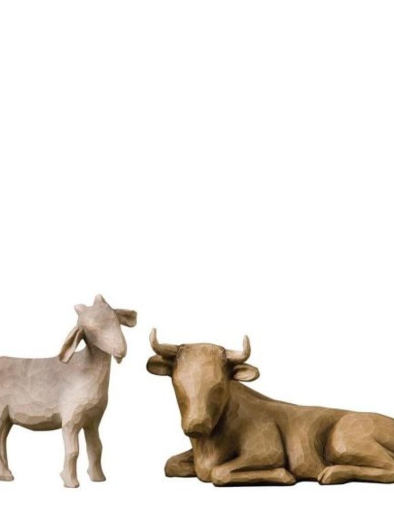 Willow Tree Ox & Goat
