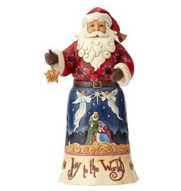 enesco Jim Shaw Joy To The World Santa