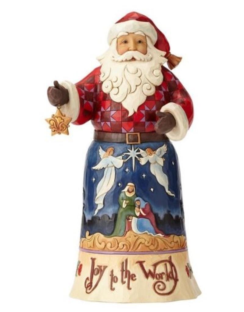 enesco Jim Shaw Joy To The World Santa