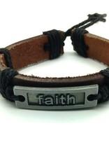 Faith Leather Bracelet