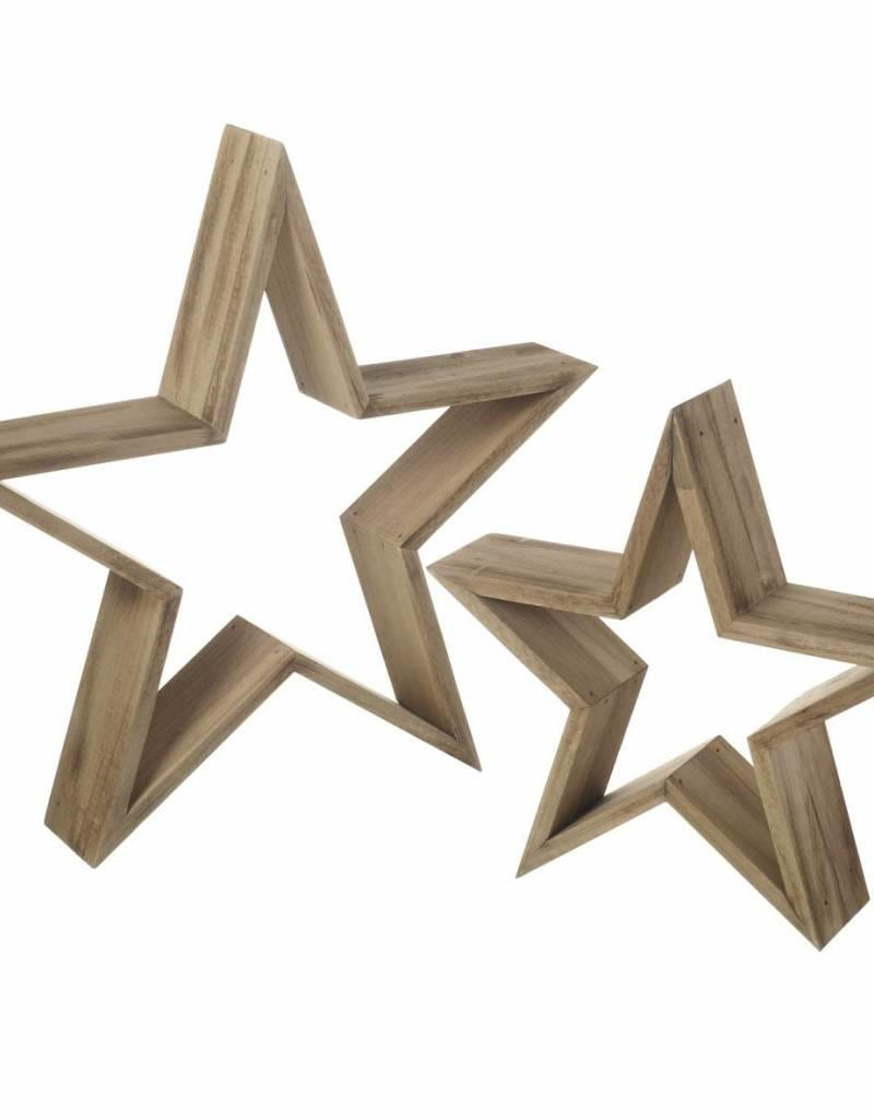 Set or two wooden stars