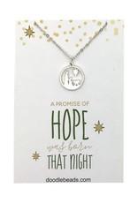Hope Nativity Necklace Silver