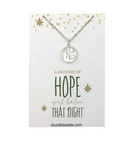 Hope Nativity Necklace Silver
