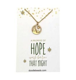 Hope Nativity Necklace Gold