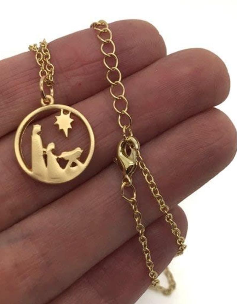 Hope Nativity Necklace Gold