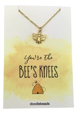 You're The Bee's Knees Necklace Gold