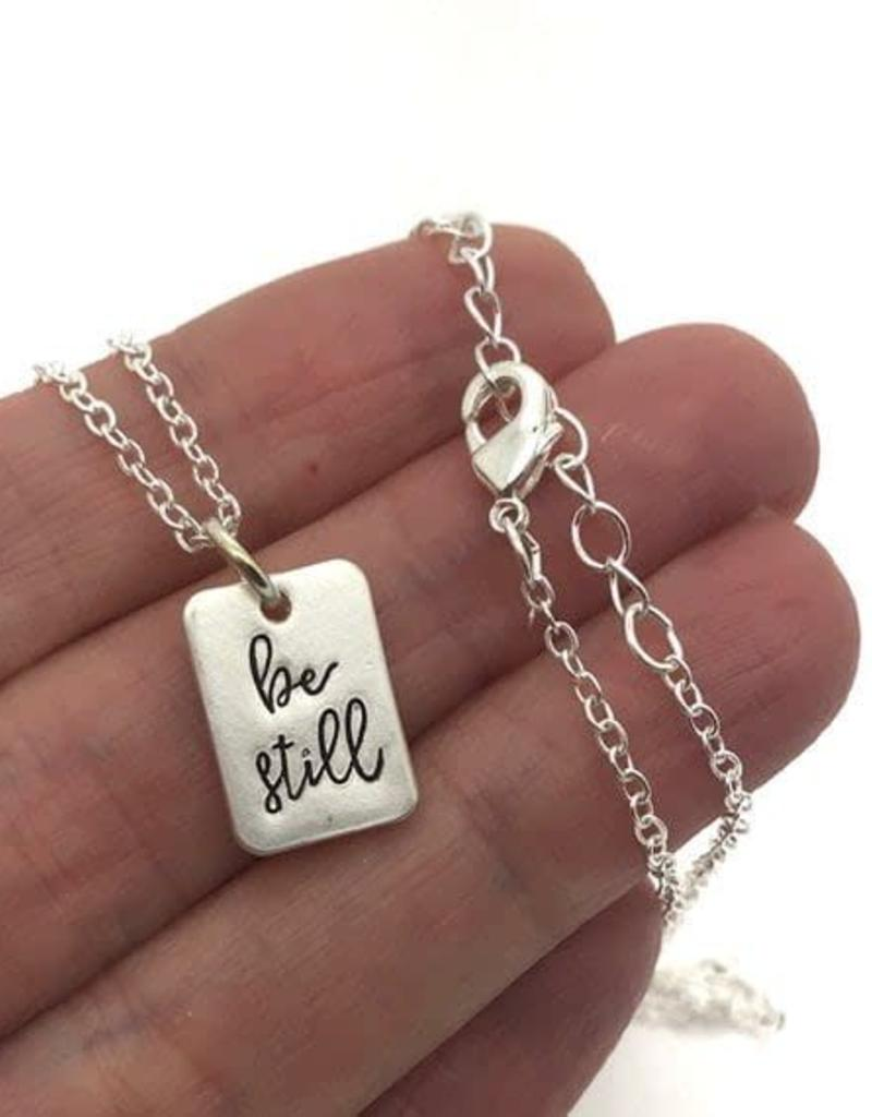 Be Still Necklace Silver
