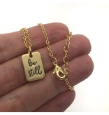 Be Still Necklace Gold
