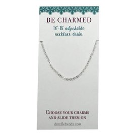 "Be Charmed 16""-18""Adjustable Necklace Chain Silver"