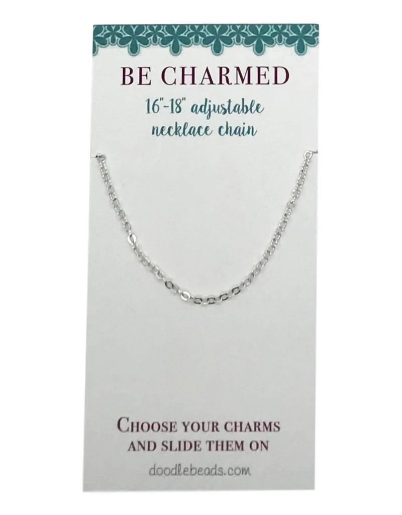 """Be Charmed 16""""-18""""Adjustable Chain Silver"""