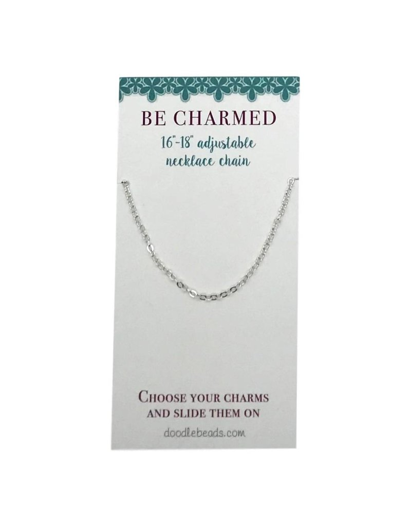 """Be Charmed 16""""-18""""Adjustable Necklace Chain Silver"""