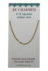"Copy of Be Charmed 16""-18""Adjustable Chain Silver"