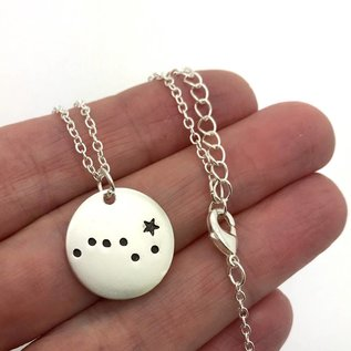 And I Saw Stars Necklace Silver