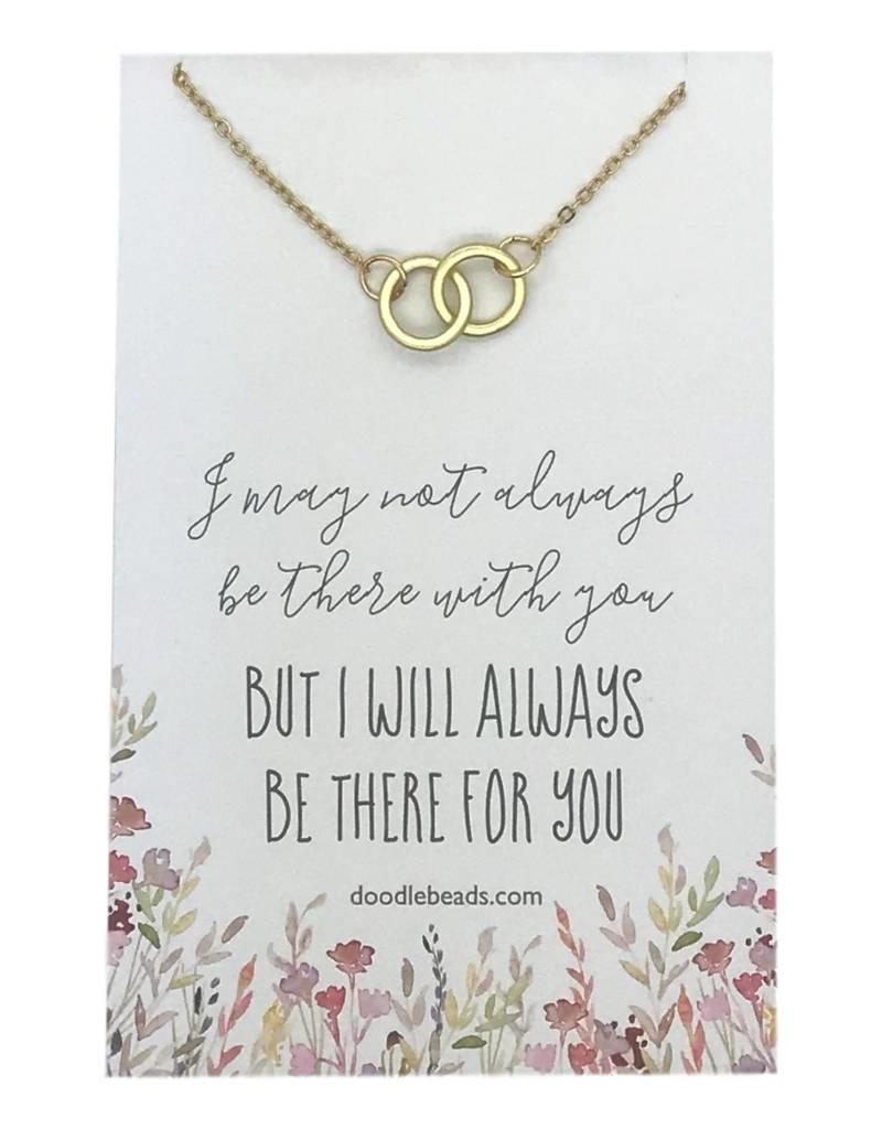 Double Ring Necklace, Always Be There For You, in gold