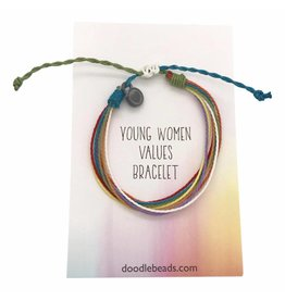 Young Women Values Cord Bracelet