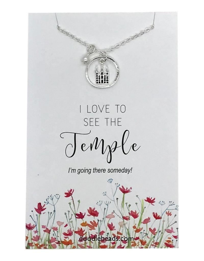 I Love To See The Temple Necklace Silver