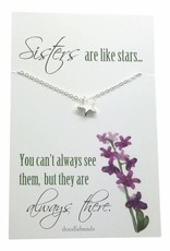 Sisters Are Like Stars Necklace Silver