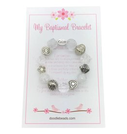 Baptismal Bracelet – Faith Bracelet White