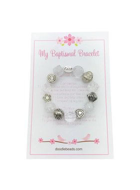 Baptismal Bracelet – Faith Bracelet White