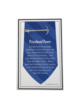Anchor Tie Bar Silver – Priesthood Power