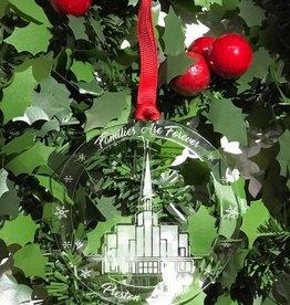 Preston Temple Acrylic Ornament - Families Are Forever