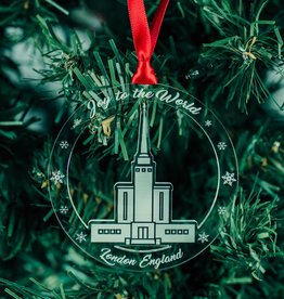 London Temple Acrylic Ornament - Families Are Forever