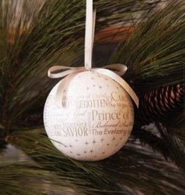 Prince Of Peace Ornament Silver 4 inch