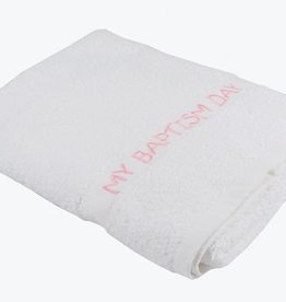 My Baptism Day Towel Pink