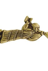 Recumbant Moroni pin Antique Gold