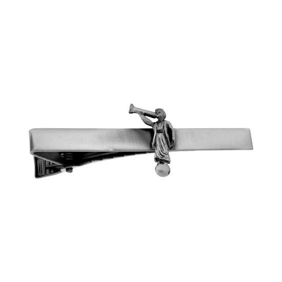 Angel Moroni Tie Bar Antique Silver