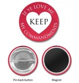 """2019 """"If ye love me..."""" PIN or MAGNET (1.5"""") - Heart   - Format: Magnet"""