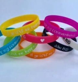 """2019 """"If ye love me..."""" ~ YW/YM Theme WRISTBANDS - LARGE Size"""