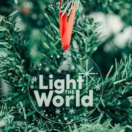 LDSBookstore (USA) Light The World Ornament Acrylic