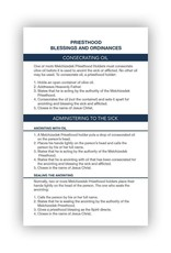 Pocket Priesthood Ordinance Card