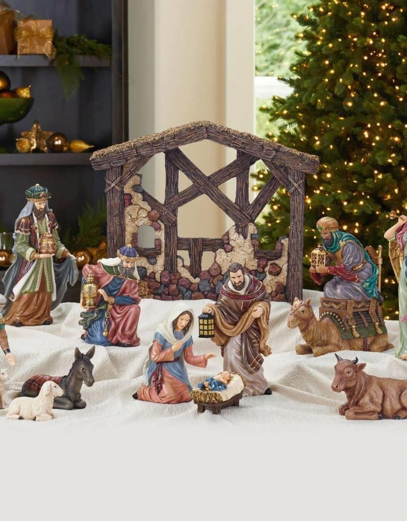 13 Piece Table Top Nativity Set
