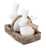 Bunny Salt and Pepper Basket by Mud Pie