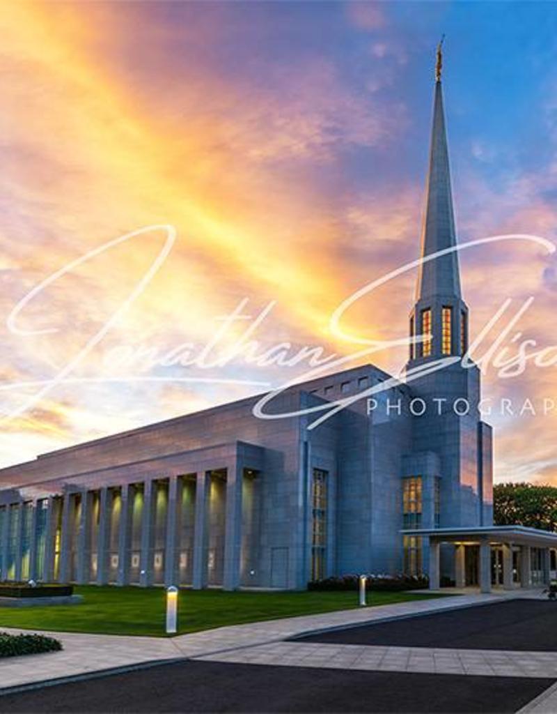Jonathan Ellison Photography Preston Temple Side View 5x7 Print by Jonathan Ellison