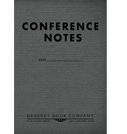 Conference Notes Journal Small Gray 3.5  6.5