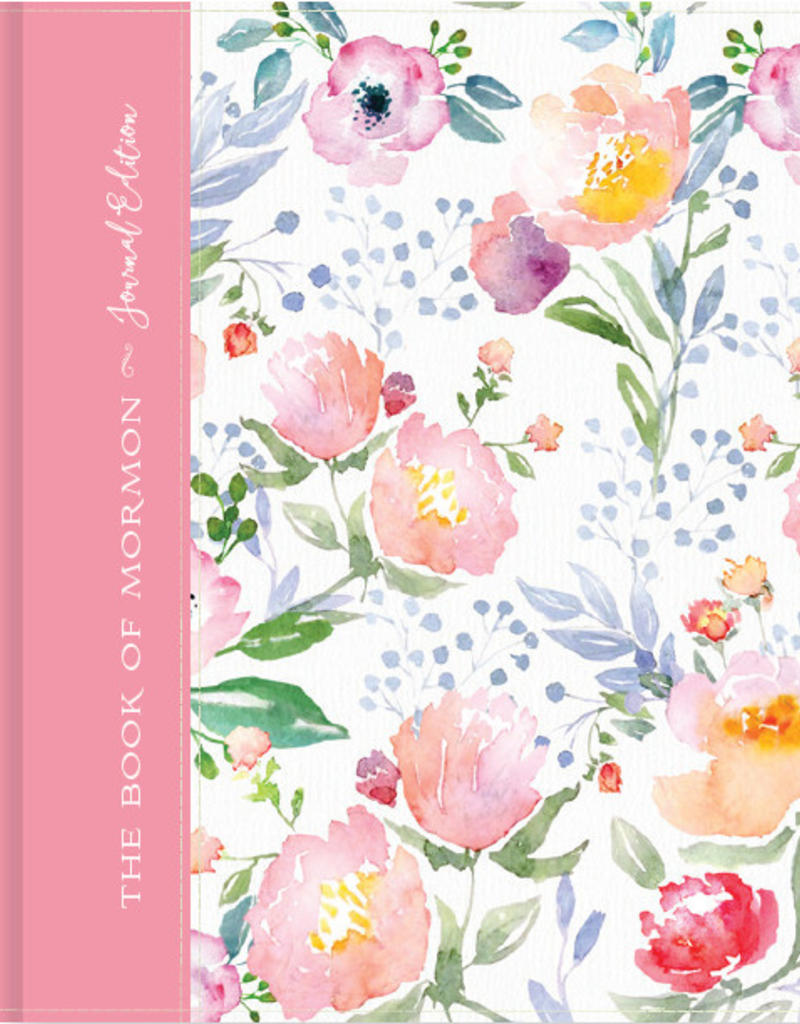 PRE-ORDER (Available March 2019) The Book of Mormon, Journal Edition, Pink Floral (No Index)