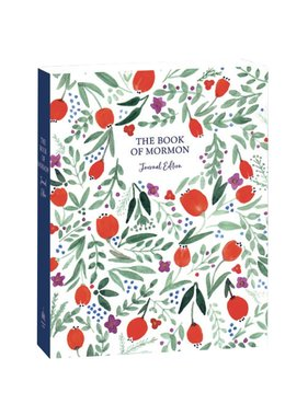 The Book of Mormon, Journal Edition, Red Floral (No Index)
