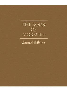 The Book of Mormon, Journal Edition, Toffee/Brown (No Index)