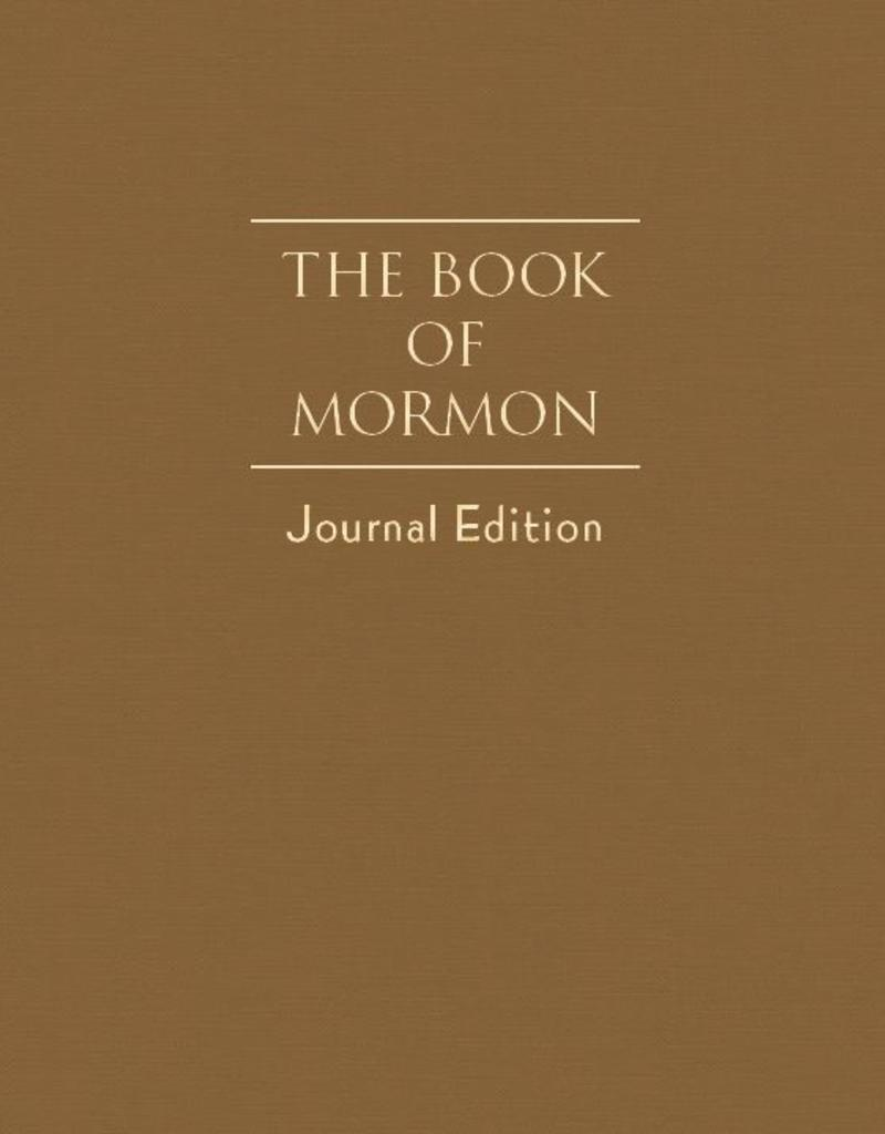 PRE-ORDER (Available February 2019)  The Book of Mormon, Journal Edition, Brown (No Index)