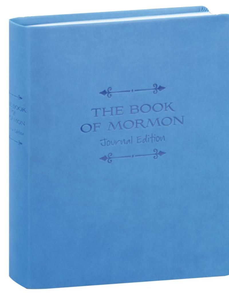 PRE-ORDER (Available February 2019) The Book of Mormon, Journal Edition, Blue Faux Leather (No Index)