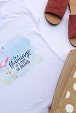 SweetSalt Modest Clothing Flamingo Graphic Tee