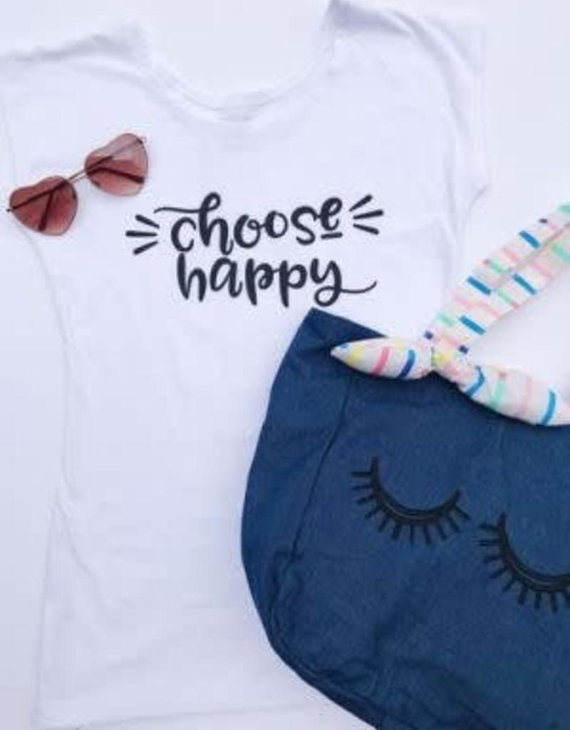 SweetSalt Modest Clothing Choose Happy Graphic Tee